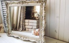 Distressed Cream Mirrors