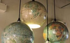 World Globe Pendant Lights