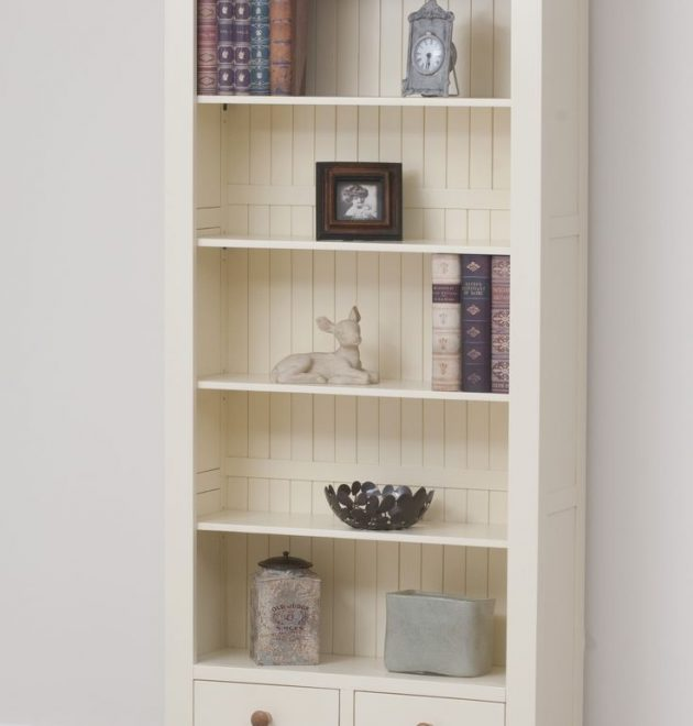 Painted Oak Bookcase
