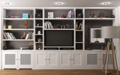 Bookcase With Tv Space