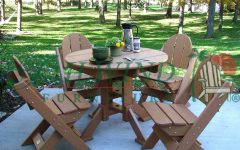 Green Cedar Dining Chairs