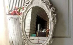 Shabby Chic White Distressed Mirrors