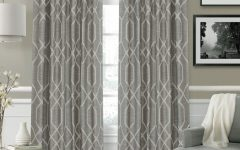 Geometric Linen Room Darkening Window Curtains