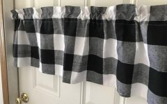 Cotton Blend Classic Checkered Decorative Window Curtains