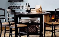 Black Shayne Drop-leaf Kitchen Tables