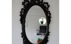Black Victorian Style Mirrors