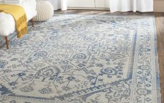 Blue Wool Area Rugs