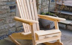 Patio Wooden Rocking Chairs