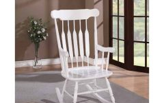 Brady Traditional White Rocking Chairs