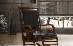 Westridge Nail Head Trim Chestnut Rocking Chairs