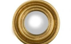 Gold Round Mirrors