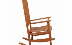 Warm Brown Slat Back Rocking Chairs