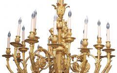 Large Bronze Chandelier