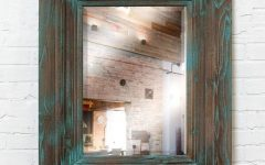 Distressed Wood Wall Mirrors