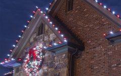 Hanging Outdoor Christmas Lights in Roof