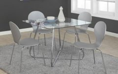 Chrome Contemporary Square Casual Dining Tables