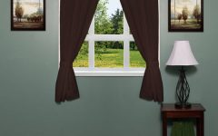 Classic Hotel Quality Water Resistant Fabric Curtains Set With Tiebacks