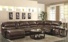 6 Piece Leather Sectional Sofa