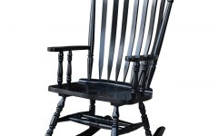Colonial Antique Black Rocking Chairs
