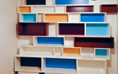 Coloured Floating Shelves