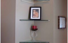Large Glass Corner Shelves