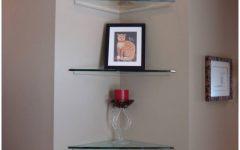Large Glass Corner Shelves