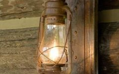 Rustic Outdoor Electric Lanterns