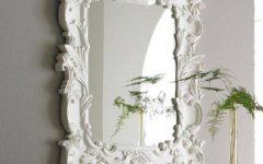 White Baroque Wall Mirrors