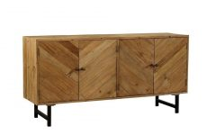 Mid Burnt Oak 71 Inch Sideboards