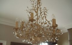 Cream Gold Chandelier