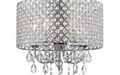 Crystal and Chrome Chandeliers