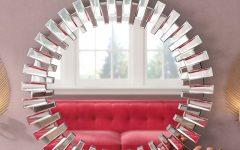 Deniece Sunburst Round Wall Mirrors
