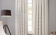Sunsmart Dahlia Paisley Printed Total Blackout Single Window Curtain Panels
