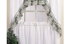 Cotton-blend Ivy Floral Tier Curtain and Swag Sets