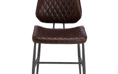 Quilted Brown Dining Chairs