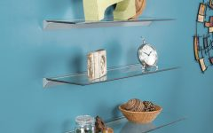 Clear Glass Floating Shelves