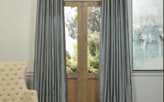 Storm Grey Vintage Faux Textured Dupioni Single Silk Curtain Panels