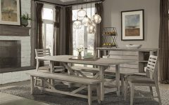 Transitional Driftwood Casual Dining Tables