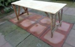 Minerva 36'' Pine Solid Wood Trestle Dining Tables