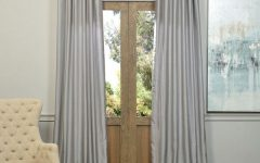 Silver Vintage Faux Textured Silk Curtain Panels