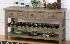 Sideboards with Wine Rack
