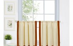 Linen Stripe Rod Pocket Sheer Kitchen Tier Sets