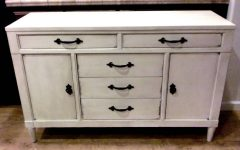 White Distressed Sideboard