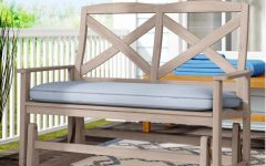 Glider Benches with Cushion