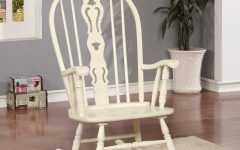 Ethel Country White Rocking Chairs