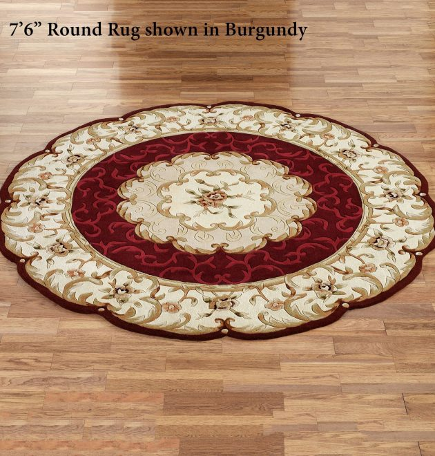 Round Wool Area Rugs