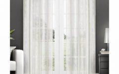 Penny Sheer Grommet Top Curtain Panel Pairs