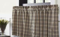 Cumberland Tier Pair Rod Pocket Cotton Buffalo Check Kitchen Curtains