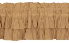 Rod Pocket Cotton Linen Blend Solid Color Flax Kitchen Curtains