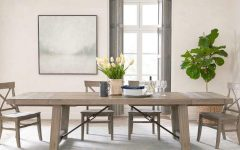 Gray Wash Benchwright Extending Dining Tables